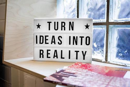 turn ideas into reality board