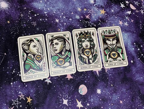 suit of coins court cards tarot