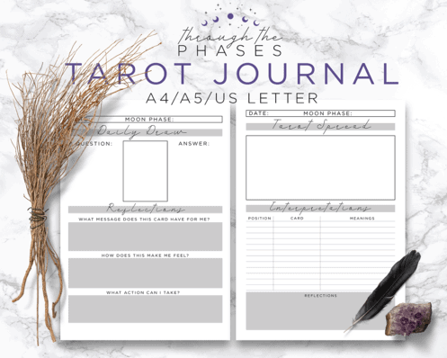 tarot journal printable