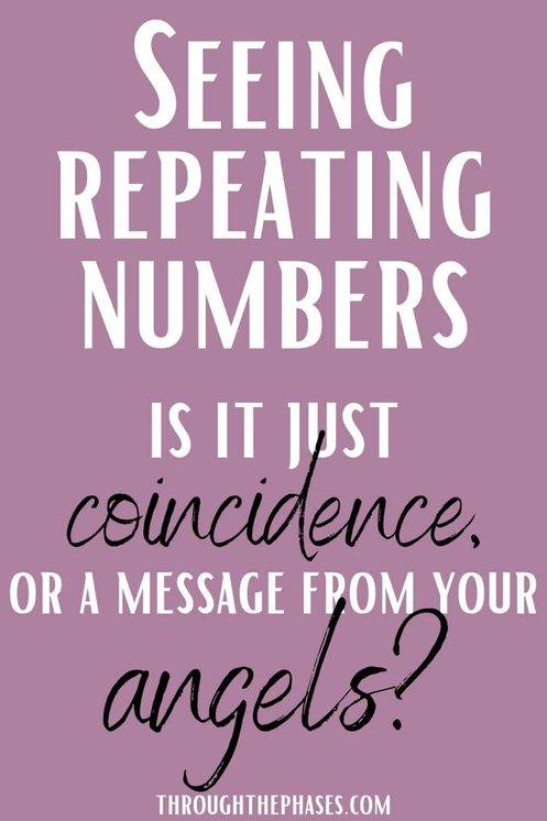 seeing repeating numbers: coincidence or angels?