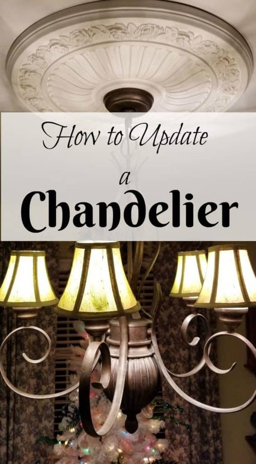 how to quickly & easily update a chandelier