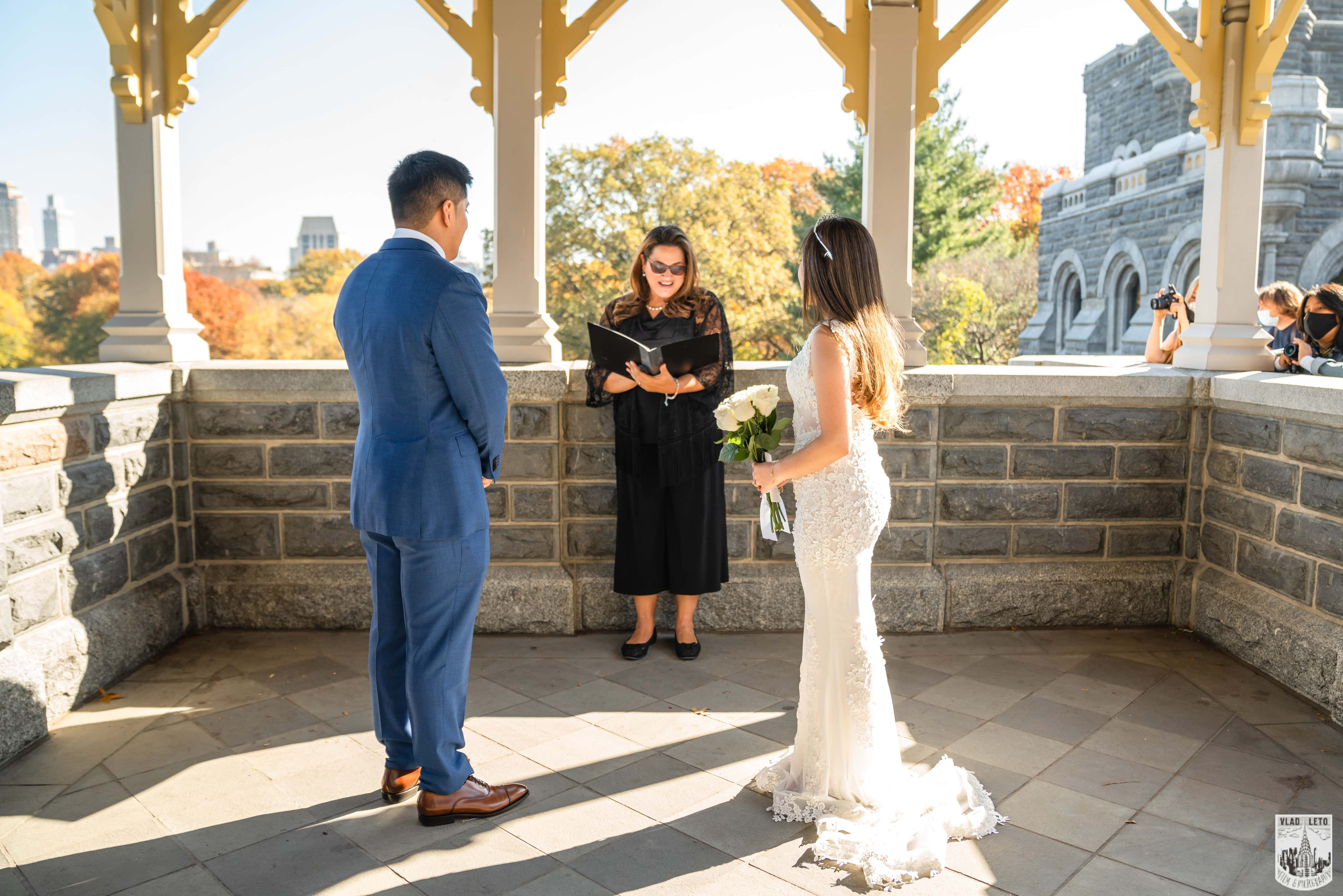 Photo 5 Francisco and Maria wedding ceremony at the Belvedere Castle