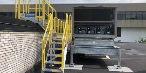 HVAC Stair Units Outdoors