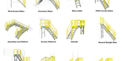 Common Metal Stair Configurations