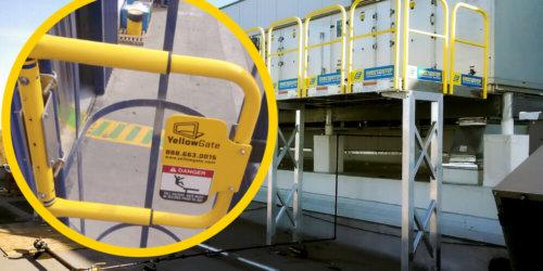 Handrails on a Maintenance Work Platform