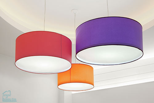 selection of DIY lampshades