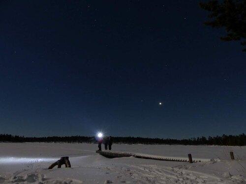 Skiwandern Lappland Pulka