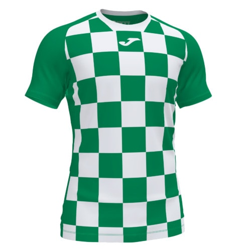 Koszulka piłkarska Joma Flag zielono biała 1101465.452