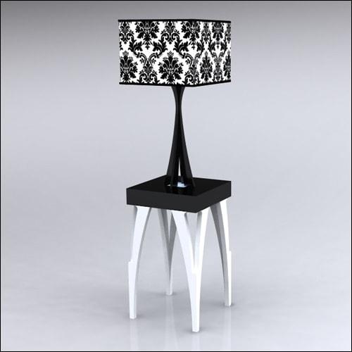 2x2x30-SplitV-Table-W-Lamp-WhiteBlack
