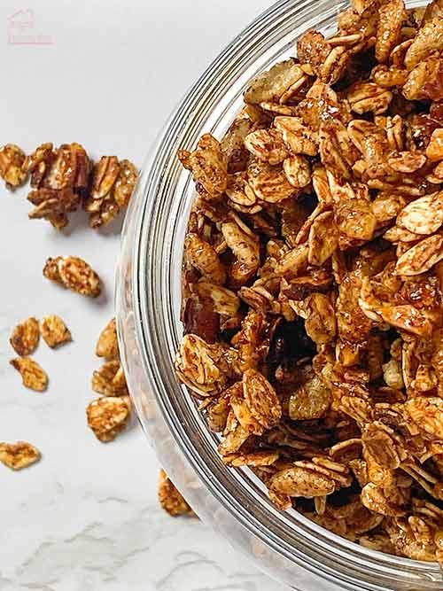 overhead of granola