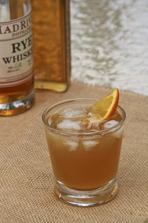 Smoked maple syrup cocktail by Runamok Maple