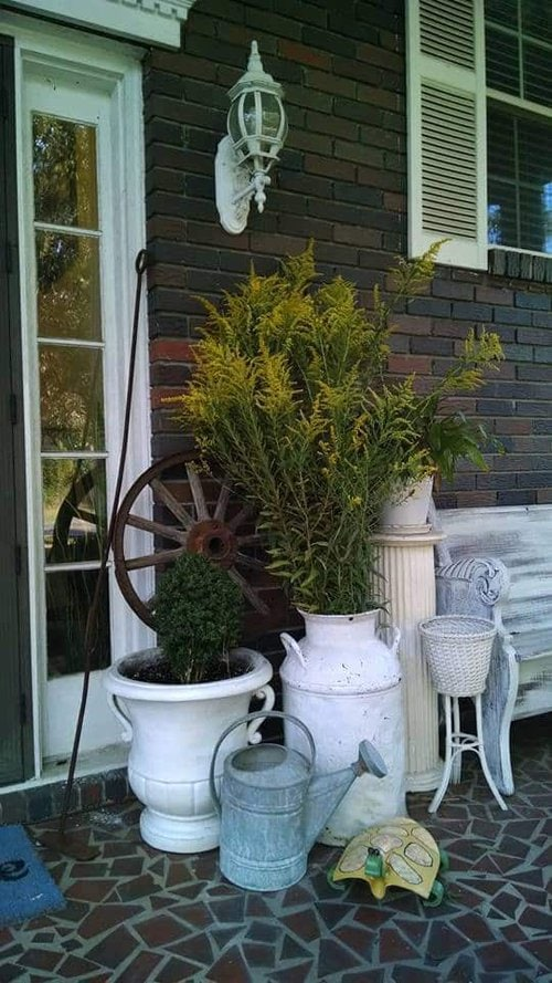 Update Past Front Porch Fall Decor, Fall Front Porch using what you have