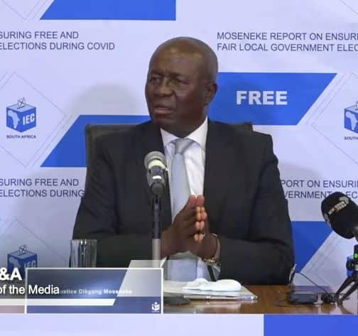 Former deputy chief justice Dikgang Moseneke