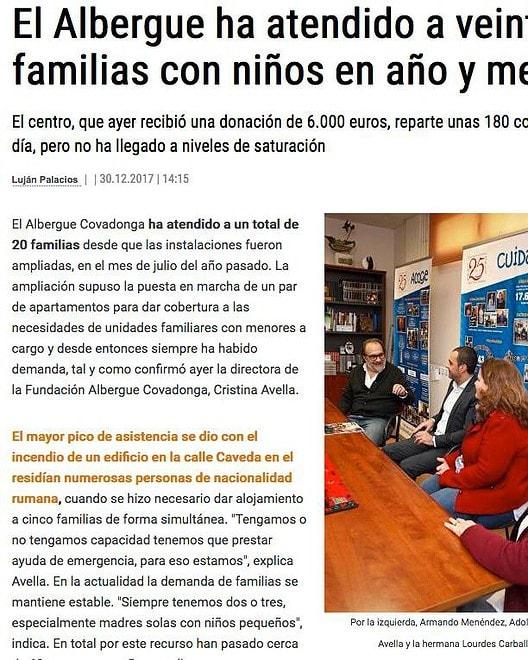 Donación de DAF al Albergue Covadonga- LaNuevaEspaña
