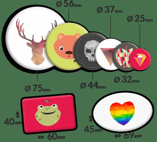 Plakietki reklamowe na zamówienie w różnych kształtach i wielkościach. Posiadamy badziki okrągłe, prostokątne oraz owalne.
