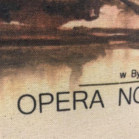 Nadruk DTG na bawelnie ecru Opera