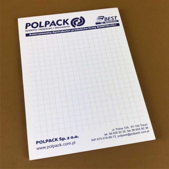 Notesy A5 reklamowe firmowe bydgoszcz polpack