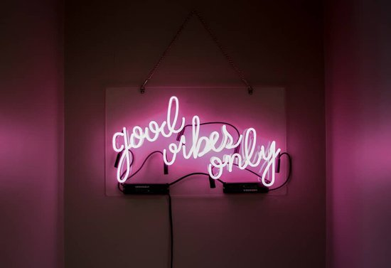 good vibes only neon sign