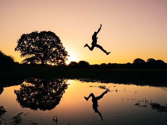 person leaping
