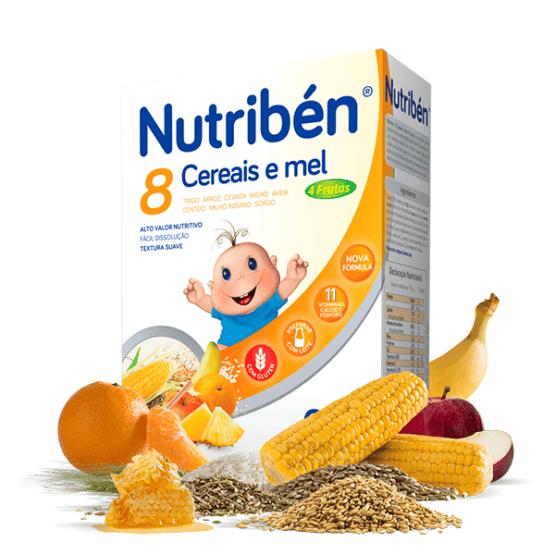NUTRIBEN 8 CEREAIS E MEL 4 FRUTAS