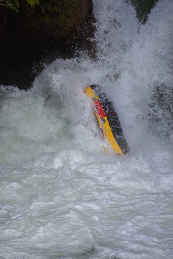 rafting over tutea falls on new zealand rafting trip with kaituna cascades