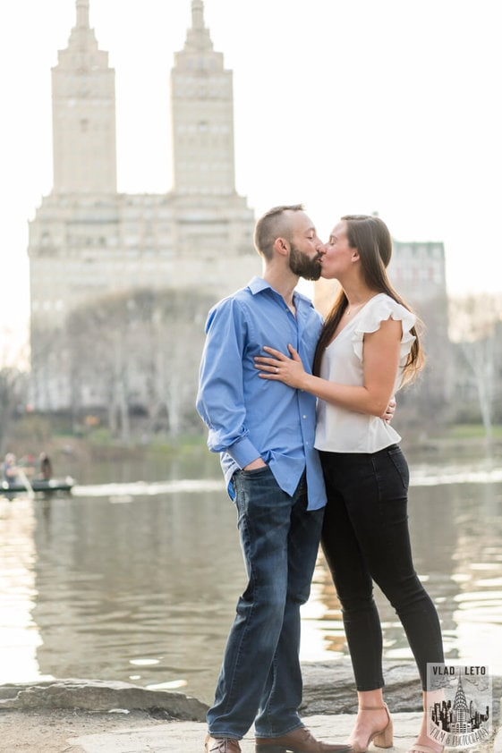Photo 3 Central Park Marriage Proposal at The Lake Viewing Area | VladLeto