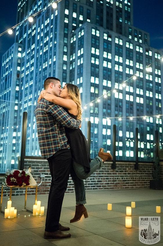 Photo 2 Empire state building view Surprise Marriage Proposal | VladLeto