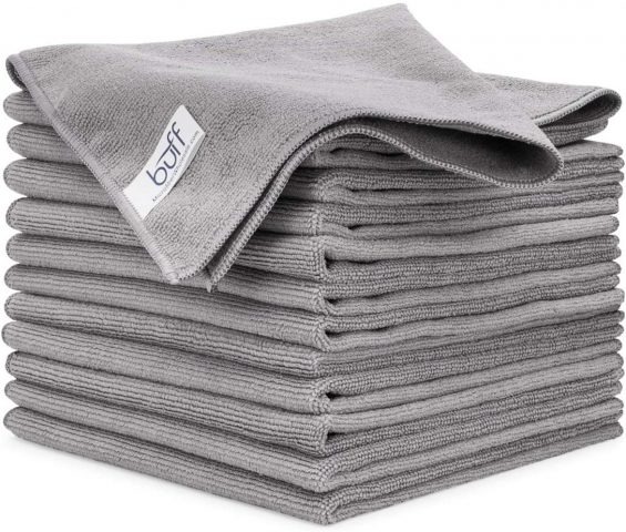 Buff Gray All Purpose Microfiber Cleaning Cloth