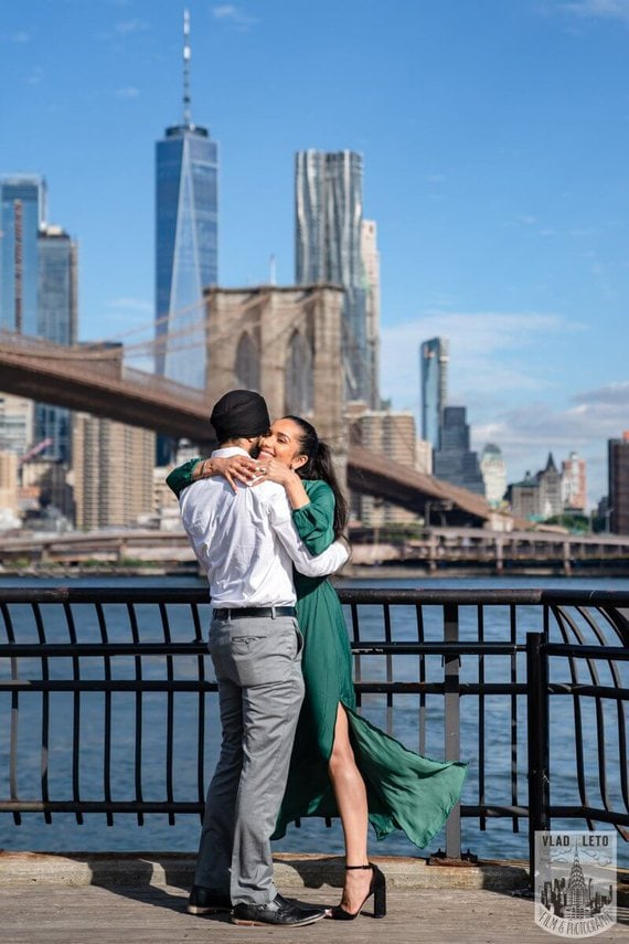 Photo 4 BEST Proposal Reaction! Brooklyn bridge park.   VladLeto