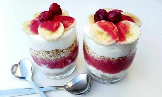 ontbijt in glas