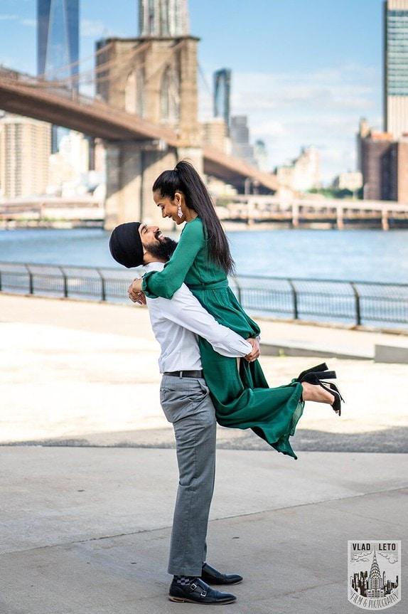 Photo 3 BEST Proposal Reaction! Brooklyn bridge park.   VladLeto