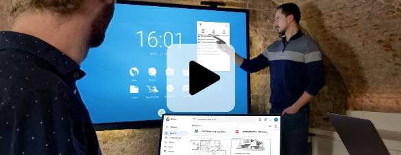 écran interactif espace de travail collaboratif cloud