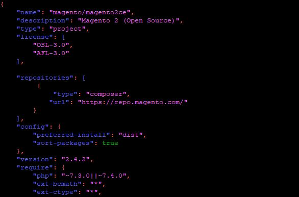 36. composer.json file edit