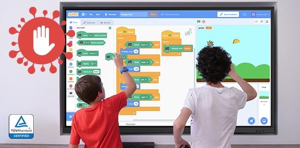 Ecrans interactifs anti-germe pour enseignement hybride et Territoires Numériques éducatifs