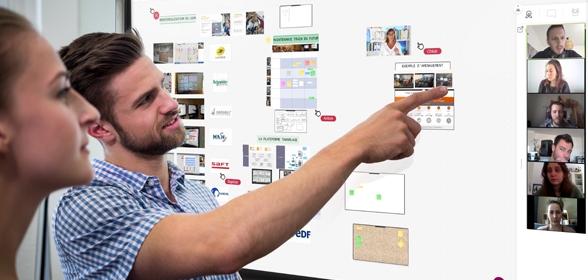 écran interactif outils collaboratifs visioconférence