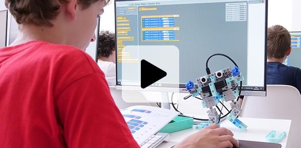 robot programmable contre fracture numérique pour continuité pédagogique