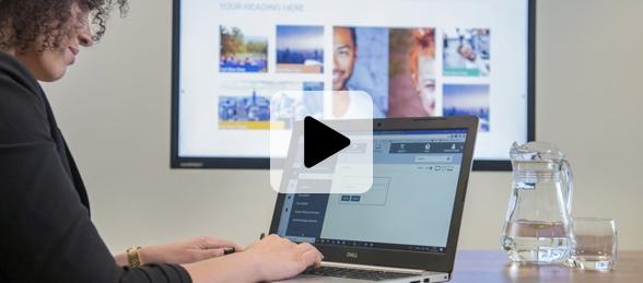 vidéo sur le digital signage sur les écrans interactifs Clevertouch