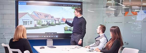 écran interactif clevertouch travail collaboratif visioconférence