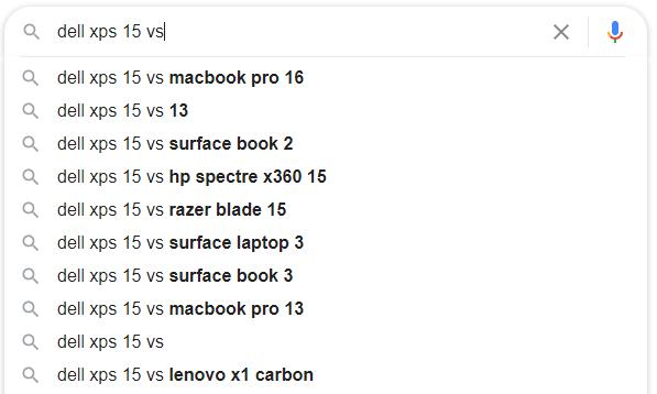 Google autocomplete suggest