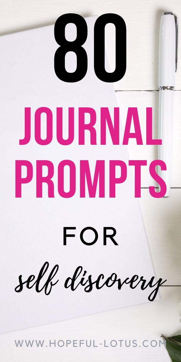 80 journal prompts for self discovery