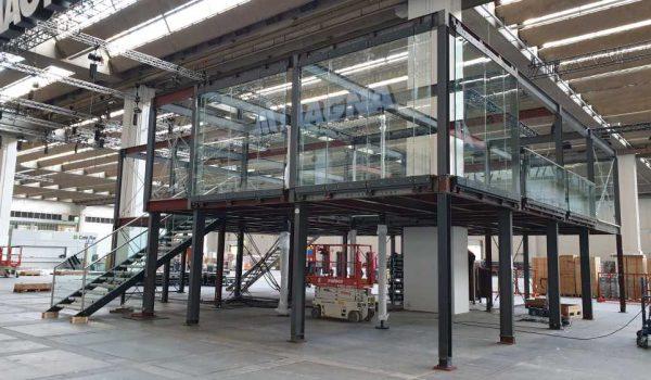 Doppelstock - Glasfassade mietweise für Messen