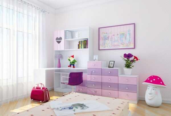 Детский уголок компьютерный стол и шкафы ДМ11