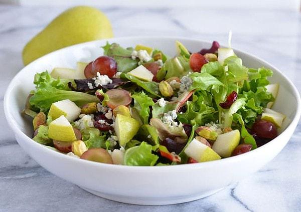Cosi's Signature Salad Copycat version in a white bowl.