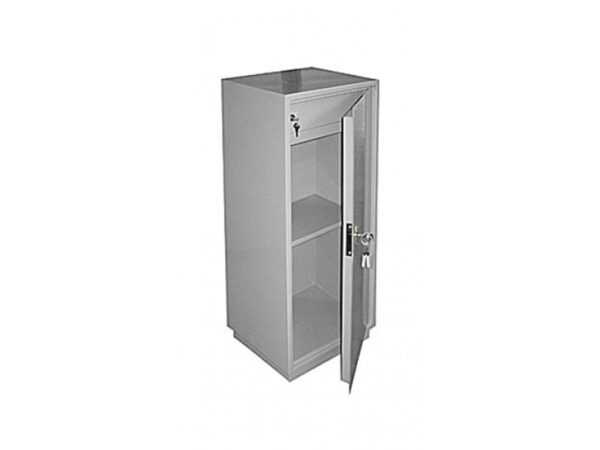 Бухгалтерский шкаф серый металлический КБ-041Т
