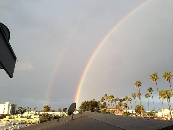 Double Rainbow over LA