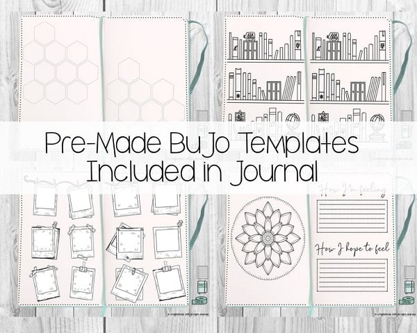 digital bullet journal with premade bujo templates