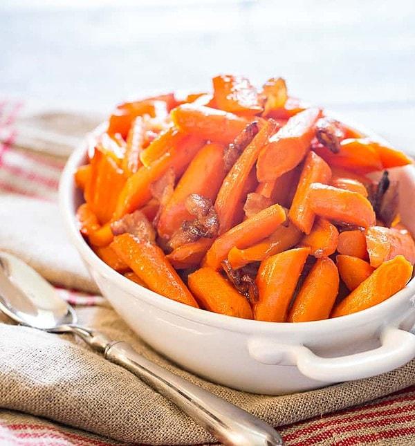 Maple Bacon Carrots