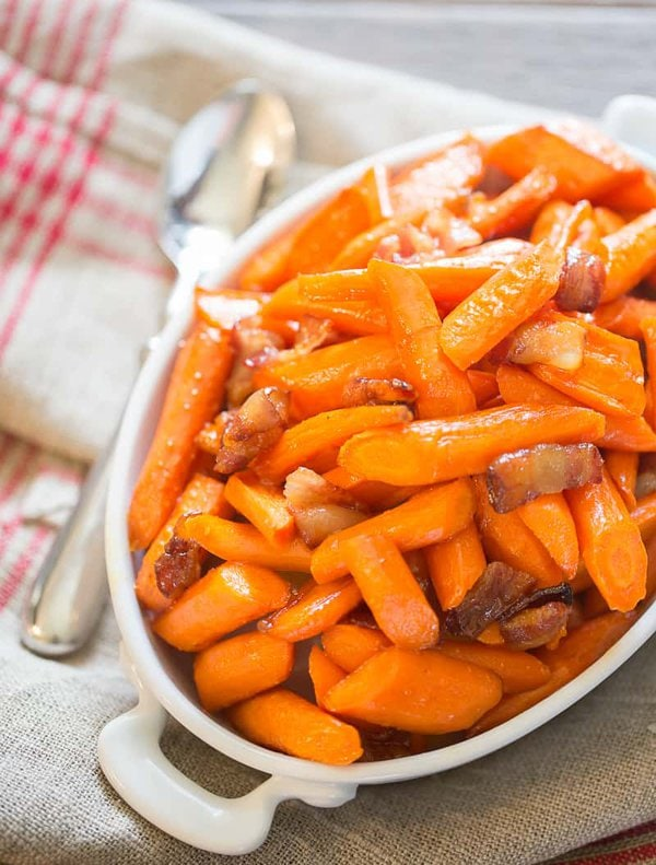 Maple Roasted Carrots with Bacon