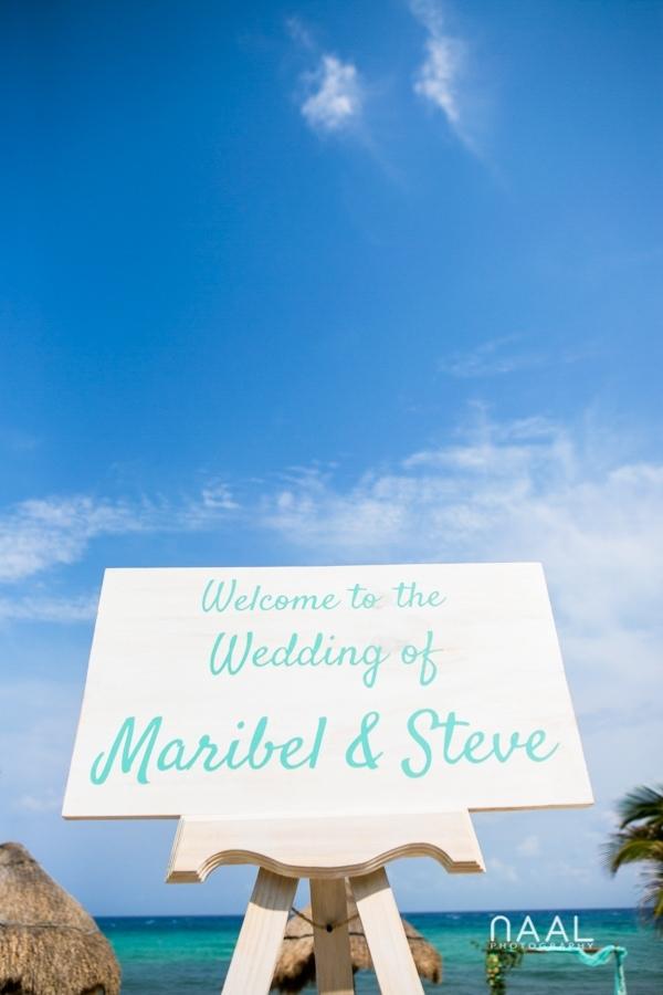 Maribel & Steve -  - Expected beach destination wedding at Le Reve 35