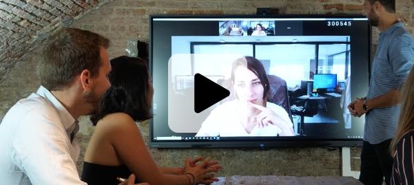avantages des écrans interactifs pour la visioconférence et le travail collaboratif
